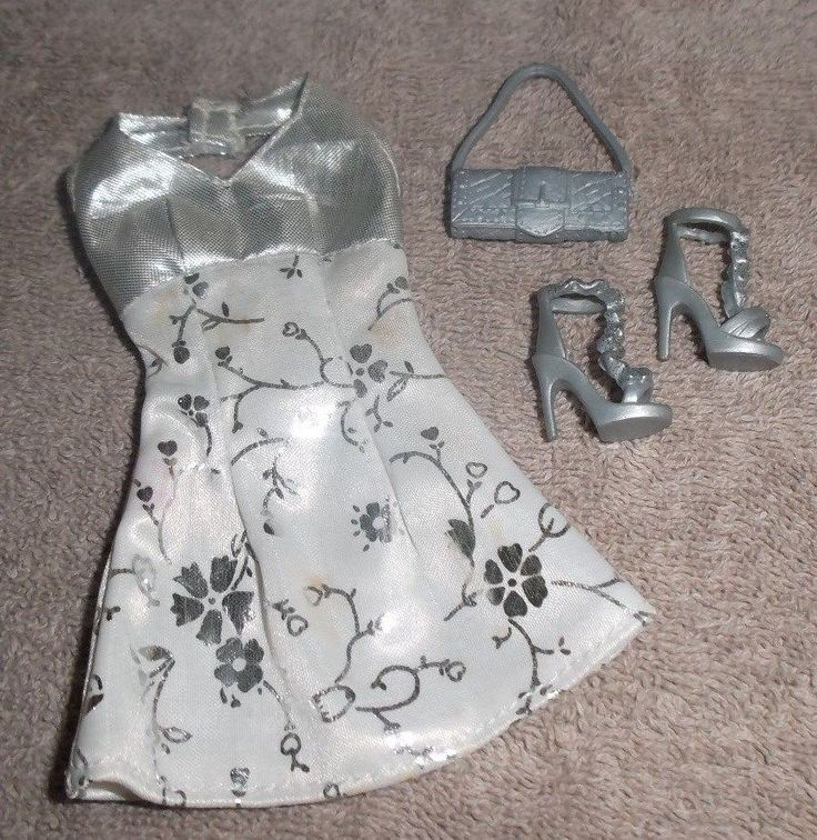 BARBIE DOLL CLOTHES - WHITE & SILVER DRESS, SHOES, PURSE | Dolls & Bears, Dolls, Barbie Contemporary (1973-Now) | eBay!