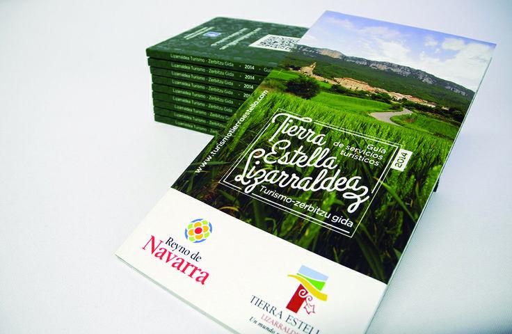 Calle Mayor diseña y elabora un mapa-guía de recorridos por Tierra Estella y la guía de servicios turísticos para el Consorcio Turístico de Tierra Estella - Calle Mayor Comunicación y Publicidad.