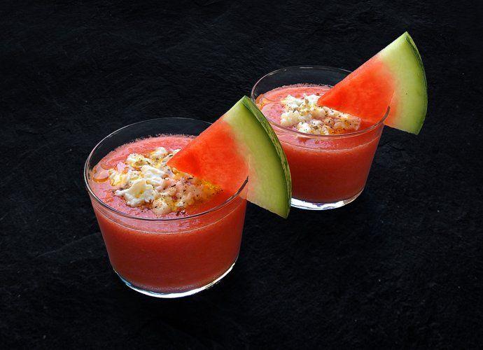 Gazpacho de sandía con mozzarella para #Mycook http://www.mycook.es/cocina/receta/gazpacho-de-sandia-con-mozzarella