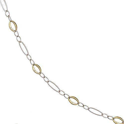 Dreambase Damen-Halskette Weißgold mit Gelbgold kombinier... https://www.amazon.de/dp/B01IWXD86E/?m=A37R2BYHN7XPNV