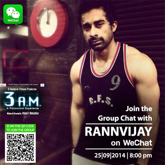 Want to group chat with Rannvijay Singh Singha? All you have to do is, scan the QR code & join him on WeChat India at 8pm!