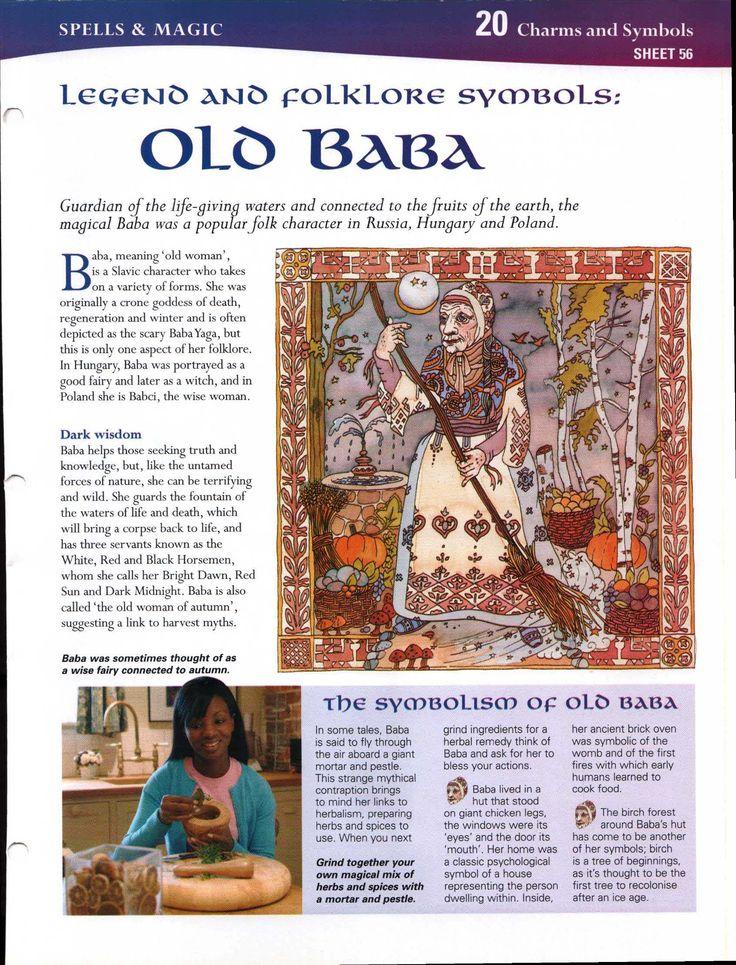 Legend and Folklore Symbols: Old Baba