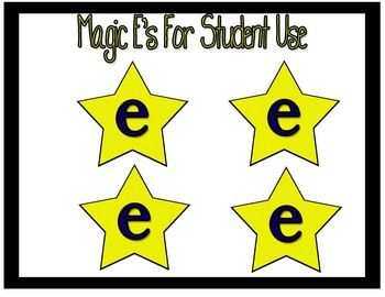 Phonics friends unit to teach short and long vowels with magic e wand printable!
