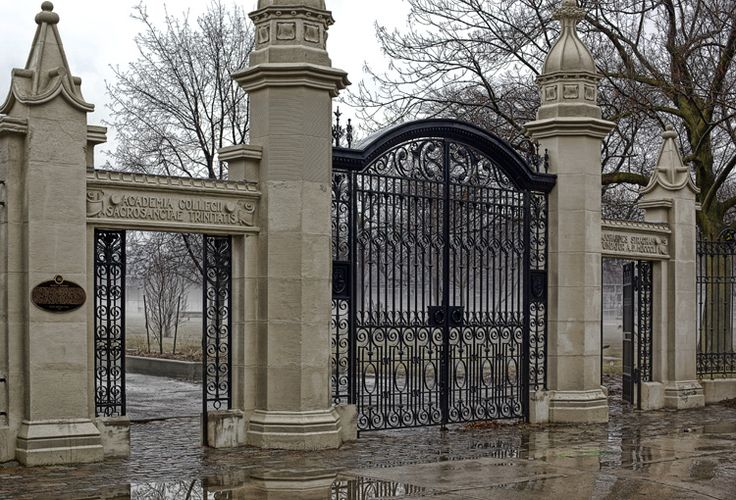The gates to Trinity Bellwoods park, Toronto! This is the Queen Street entrance and the park goes all the way up to College. Sometimes has community flea markets in summer.