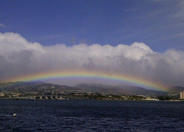 National Geographic hawaii | ... rainbow over hawaii from pearl harbor location pearl harbor hawaii