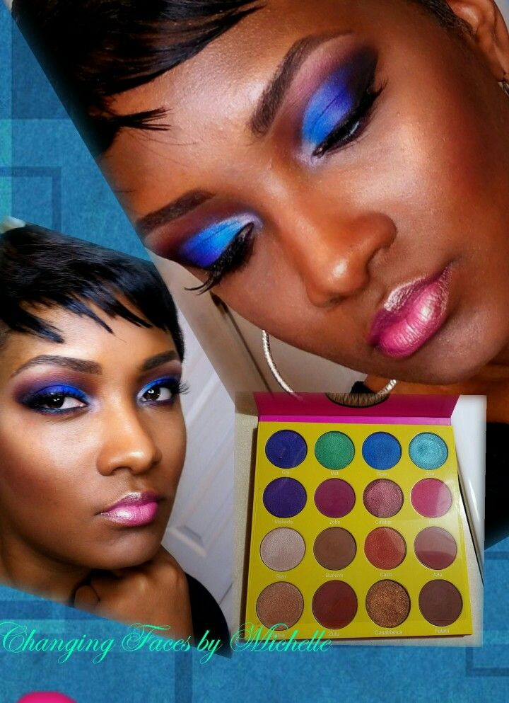 Masquerade palette by Juvia's place! #blueeyeshadow # ...