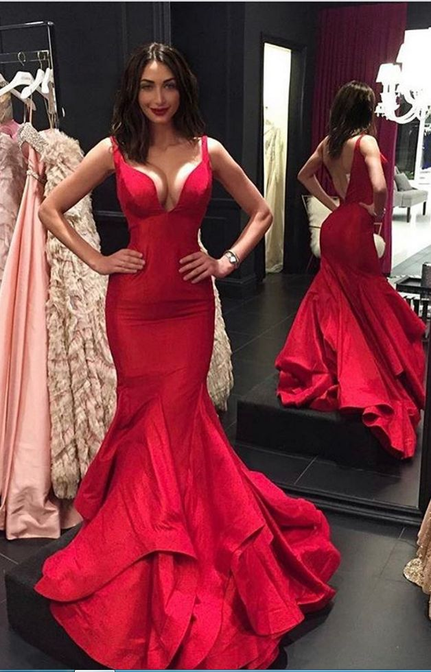 Red Prom Dress Gown Long Cheap,Mermaid Prom Dresses,Sexy Backless Prom Dress,Evening Dress,Formal Dress,Cocktail Dress,Party Dress,Graduation Dress