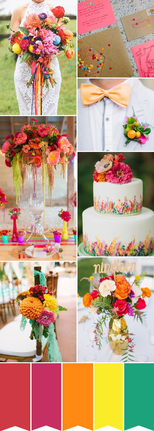 colorful summer wedding inspiration | www.onefabday.com