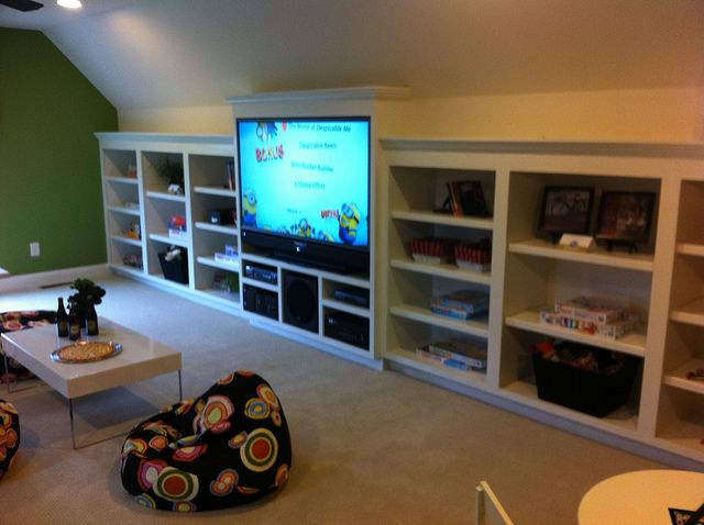 Pic from the cbus home show. Shelves in the room above the garage.