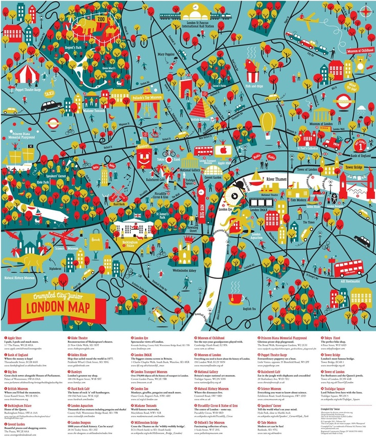 crumpled city junior london map