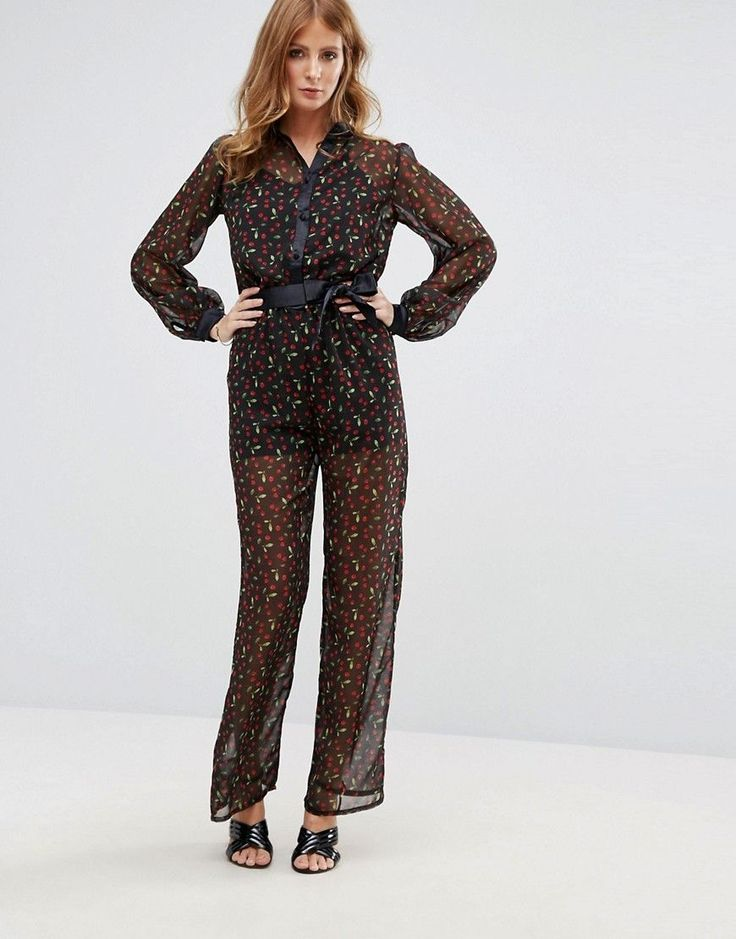 Millie Mackintosh Cherry Print Jumpsuit - Multi