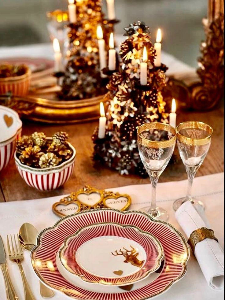 1147 best Christmas Table Decorations images on Pinterest - christmas table decorations pinterest