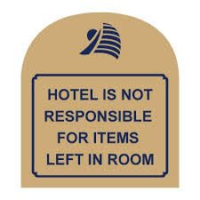 Another provision for limited liability is for hotels to post notice that a safe is available for use. In most states this notice must be posted at the registration desk, the check-in form, and in the guest rooms to be considered legitimate. For example, a state may require a notice to be posted in all three of the before-mentioned places. If a hotel does not post the notice at the registration desk, the hotel would be liable for the full amount of the property stolen.