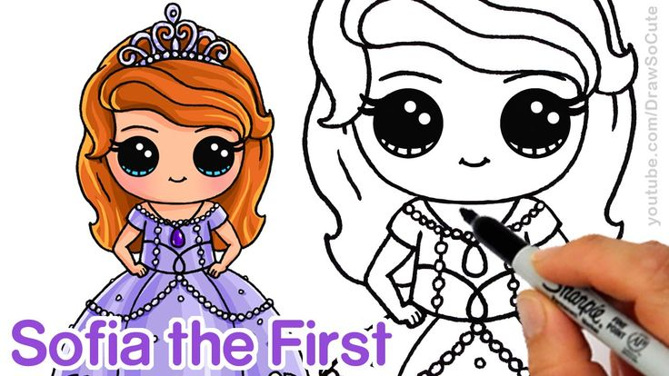 How to Draw Sofia the First step by step Chibi Disney Princess Cute