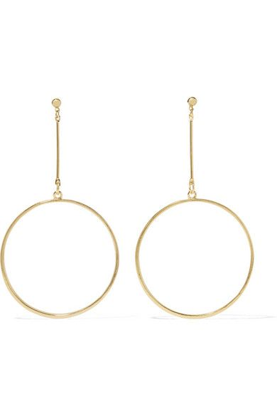 Kenneth Jay Lane Gold-plated earrings $50 Bell-back fastening for pierced ears     - This item's measurements are:     Drop 8.5cm     Width 5.1cm