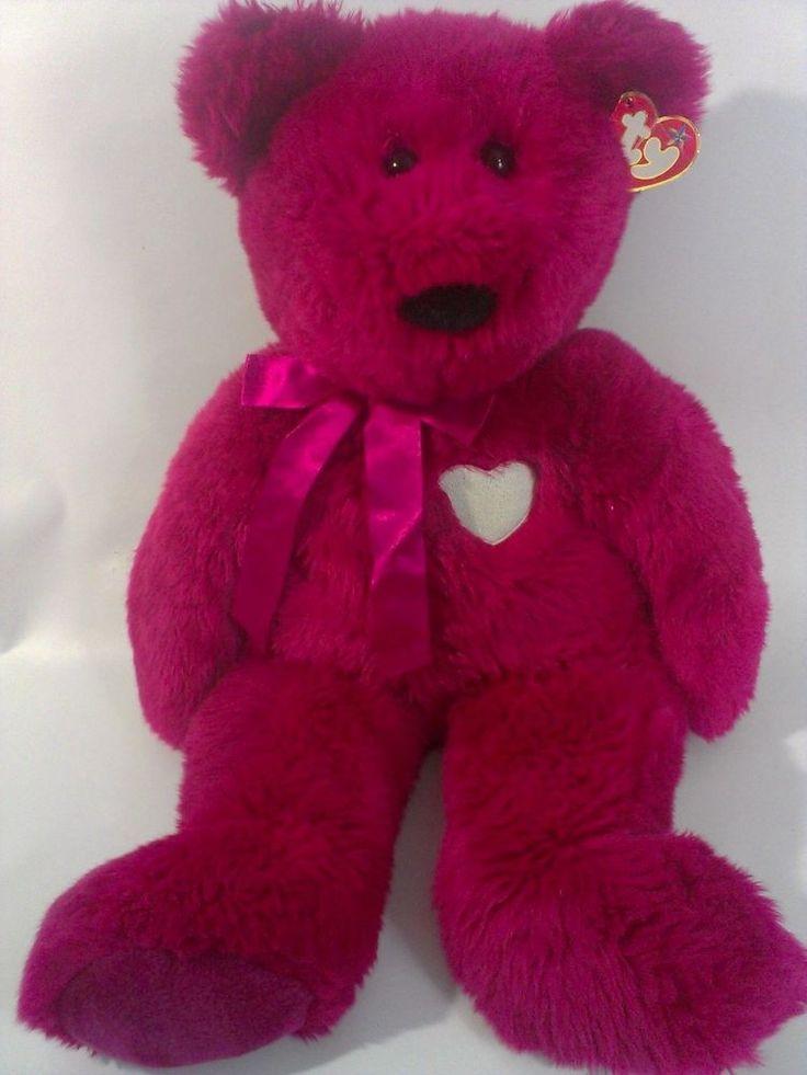 TY Xtra LARGE VALENTINA Beanie BUDDY BEAR Stuffed Plush Teddy Valentine Gift  #Ty