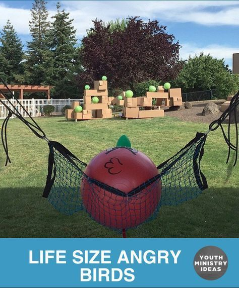 These Guys Made A Pretty Legit Life Size Angry Birds Set