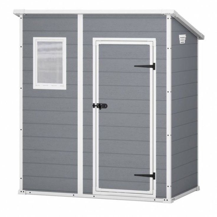 Garden House Shed Storage Outdoor Patio Furniture Organizer Cabinet Grey Lock #GardenHouseShed