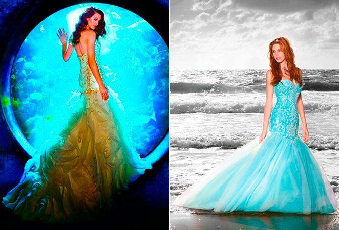 Ariel: si eres tan aventurera como 'La Sirenita', entonces puedes atreverte con estos dos diseños diferentes inspirados en la princesa del mar.