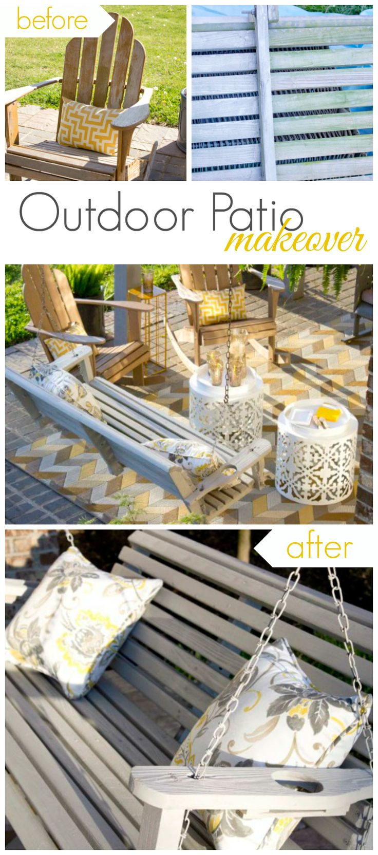 @chicaandjo | Patio Furniture Makeover With Americana Decor Outdoor Living