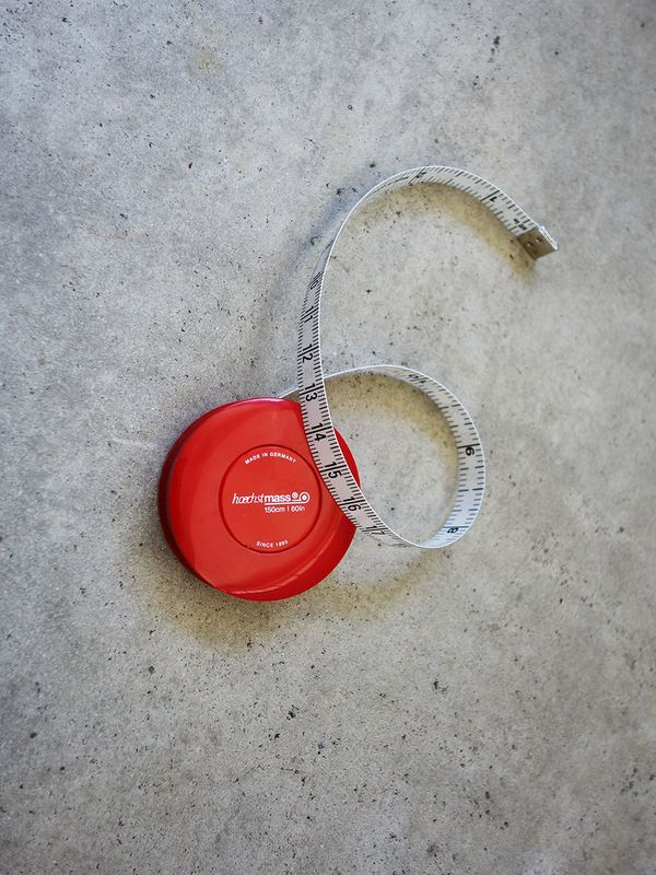 Red Rollfix Tape Measure by Hoechstmass