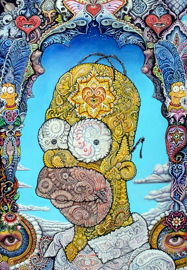 every time i see this, it makes me smile. Portrait of Homer Simpson by Randal Roberts