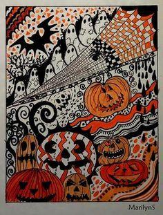 zentangle halloween - Google Search