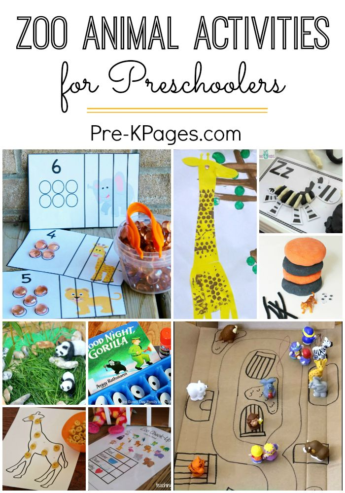 Zoo Activities for Preschoolers Fun learning activities for a zoo theme at home or in the classroom with Preschool and Kindergarten kids! - Pre-K Pages