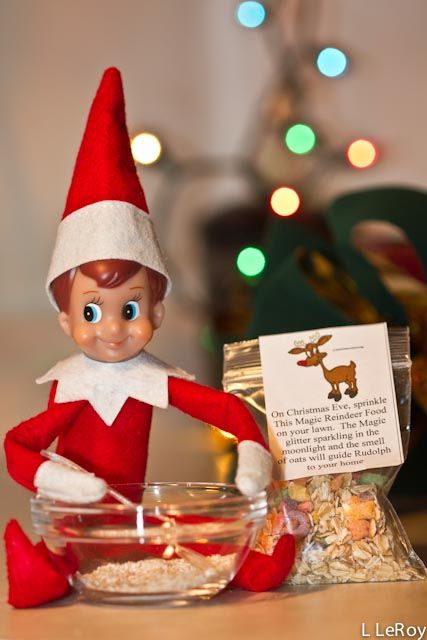 Elf on a Shelf : Making reindeer food for Christmas Eve -