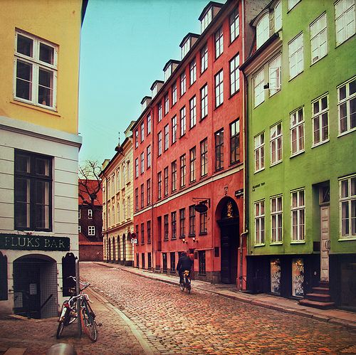 One of many little streets around the centre of Copenhagen...