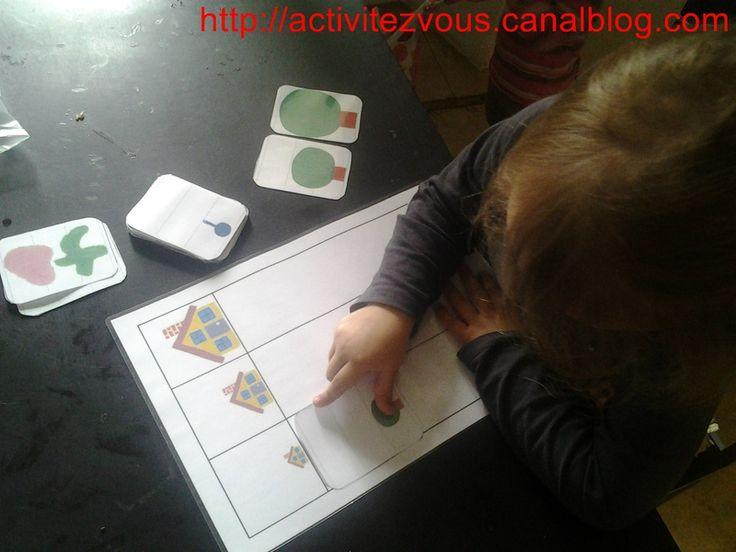 ACTIVITES: Cartes sur les tailles boucle d'or