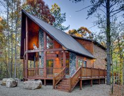 Sundown Cabin Rentals - Coyotee Crossing Creek-2 Bedroom, Accommodates Up To 6 Guest,WiFi, Hot Tub, Pet Friendly