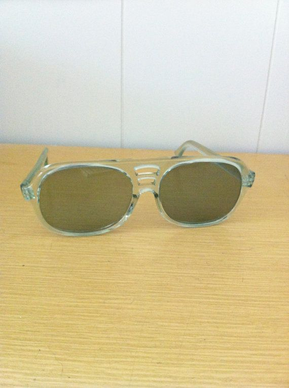 Vintage 1970s Sunglasses Translucent Light Blue by ArtDecoDame