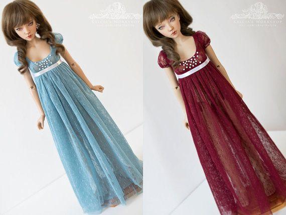 soft tulle regency dress for Iplehouse JID Mini Super by kalcia