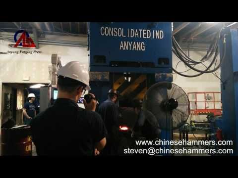 Anyang 31 5KJ CNC Hydraulic Closed Die Forging Hammer forge aviation forging part used in USA - YouTube