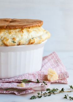 Italian Cheese Soufflé | Courtesy of Style Sweet CA | #Eggs #GetCracking Team this savoury, cheese-filled dish with a bowl of soup for a comforting dinner any day of the week.