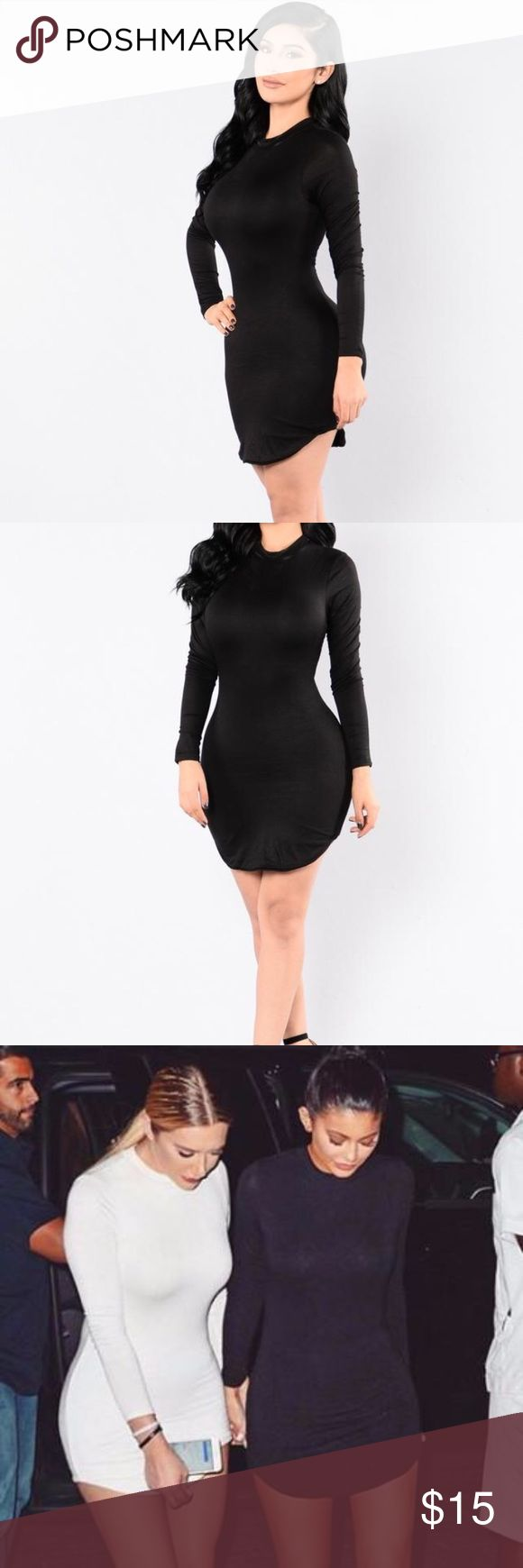 ‼️Sale‼️ Fashion Nova Black Tunic dress I only used this dress one time for two hours. This dress needs a new home. In new condition. Comfortable fit, true to size. Fashion Nova Dresses Long Sleeve