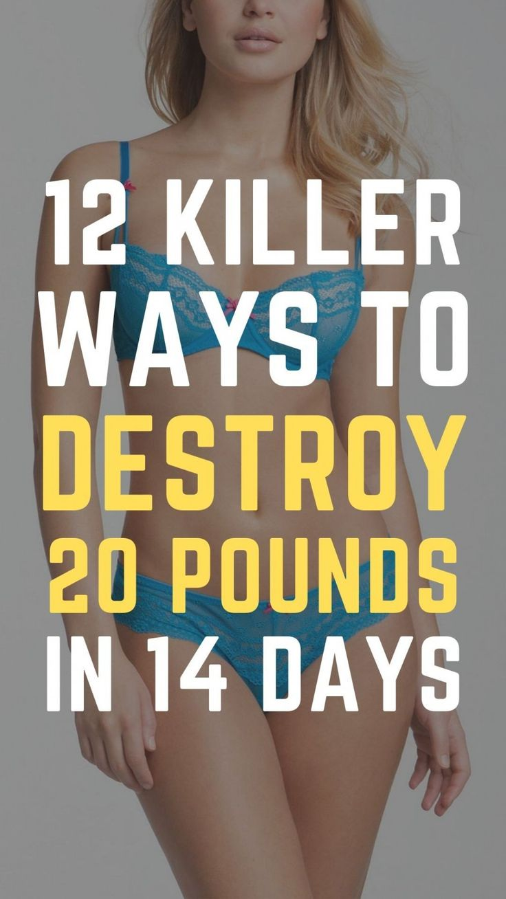12 really simple ways to lose 20 pounds in 14 days