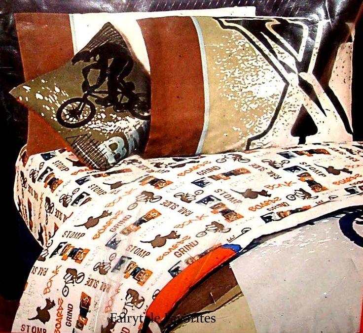 XGAMES POP CULTURE X GAMES Stunt BMX Bike FULL SHEET SET 4pc Boy Bed Bedding NEW | eBay