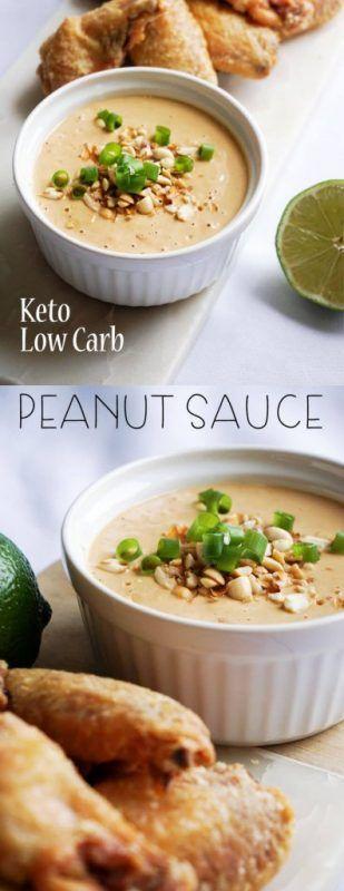 sauce aux arachides à faible teneur en glucides - combiner simplement et servir en 5 minutes