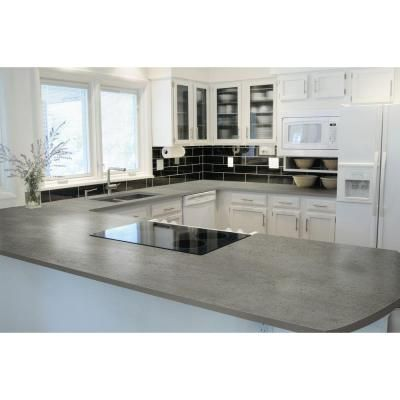 Dekton 4 in. Ultra Compact Surface Countertop Sample in Keon Concrete-DK-U0250 - The Home Depot