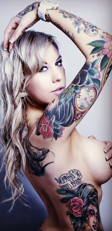 Nude hot tattoo chick gifs