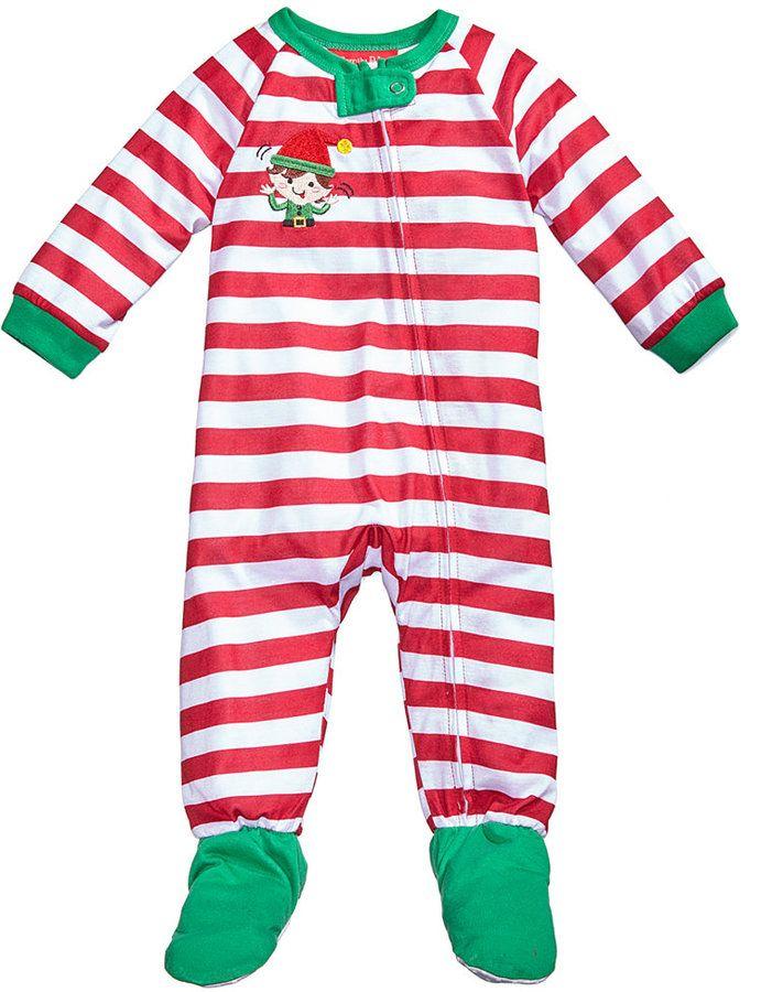 577ec131239a Family Pajamas 1-Pc Elfing Around Footed Pajamas