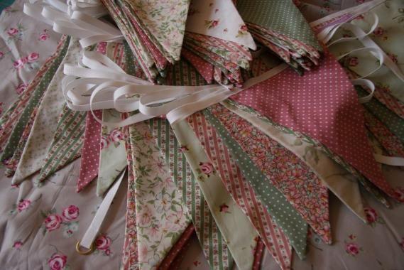 Dusky Pink + Sage Green Bunting