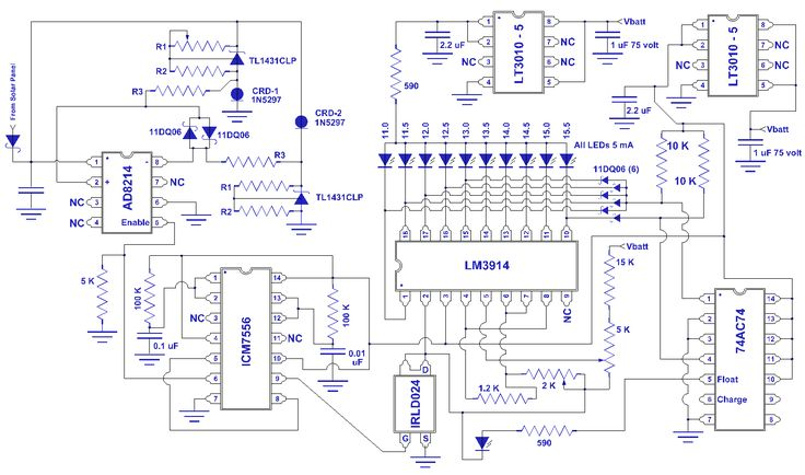 Solar charge controller circuit diagram simple mppt for Diy electronic gadgets