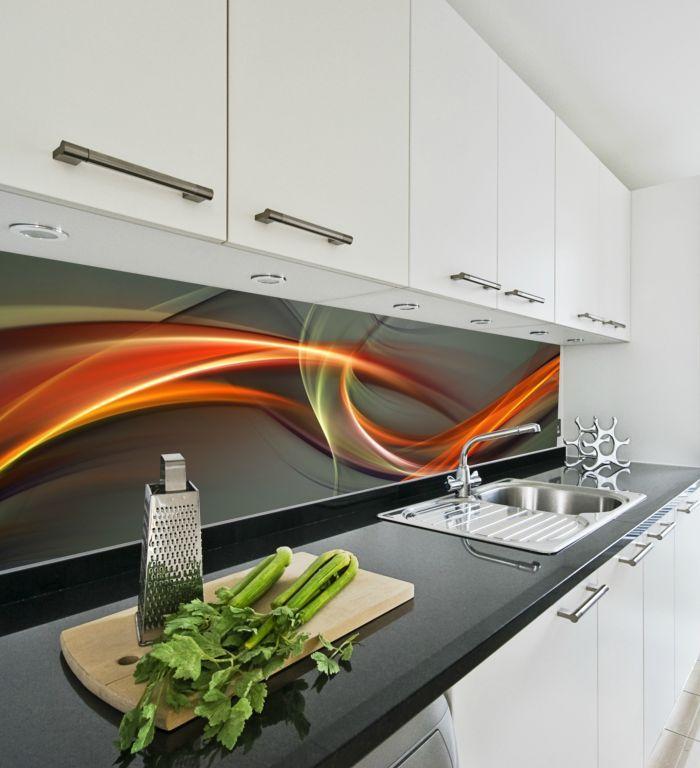Panele szklane w kuchni - Backsplash