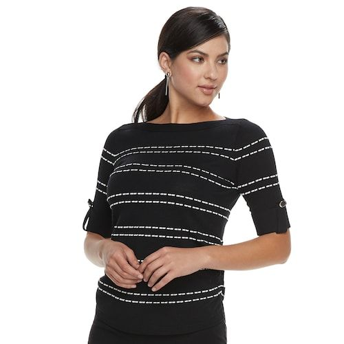 78f34dcd2a64 Women s Apt. 9® Textured Ruched Boatneck Sweater