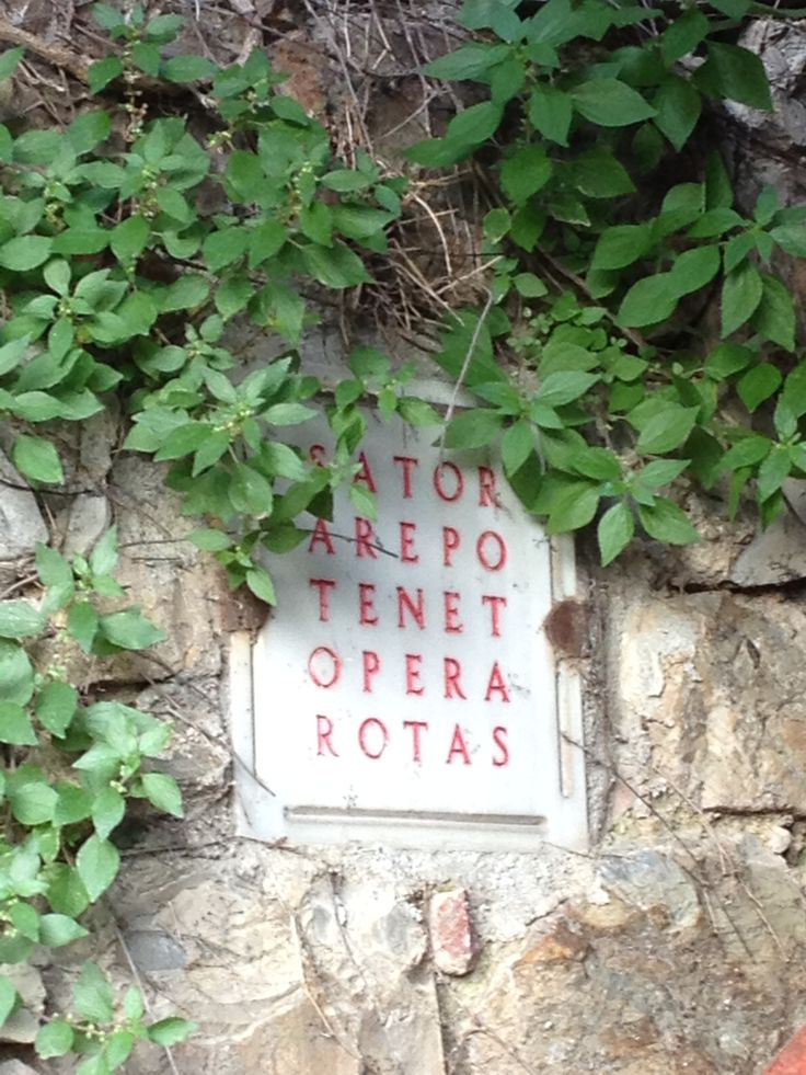 Palindrome words in the small village of Tatti. #maremma #tuscany #tales