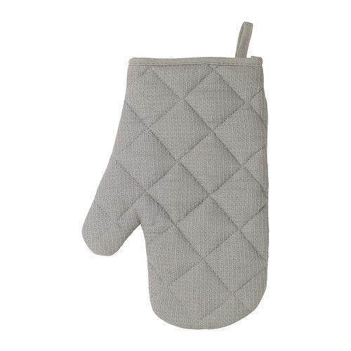 IRIS Oven mitt IKEA Inner liner of quilted polyester provides very good heat insulation. Can be used on either the right or left hand.
