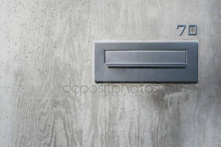 Baixar - Moderna caixa de correio inox para casa — Imagem de Stock #111704122